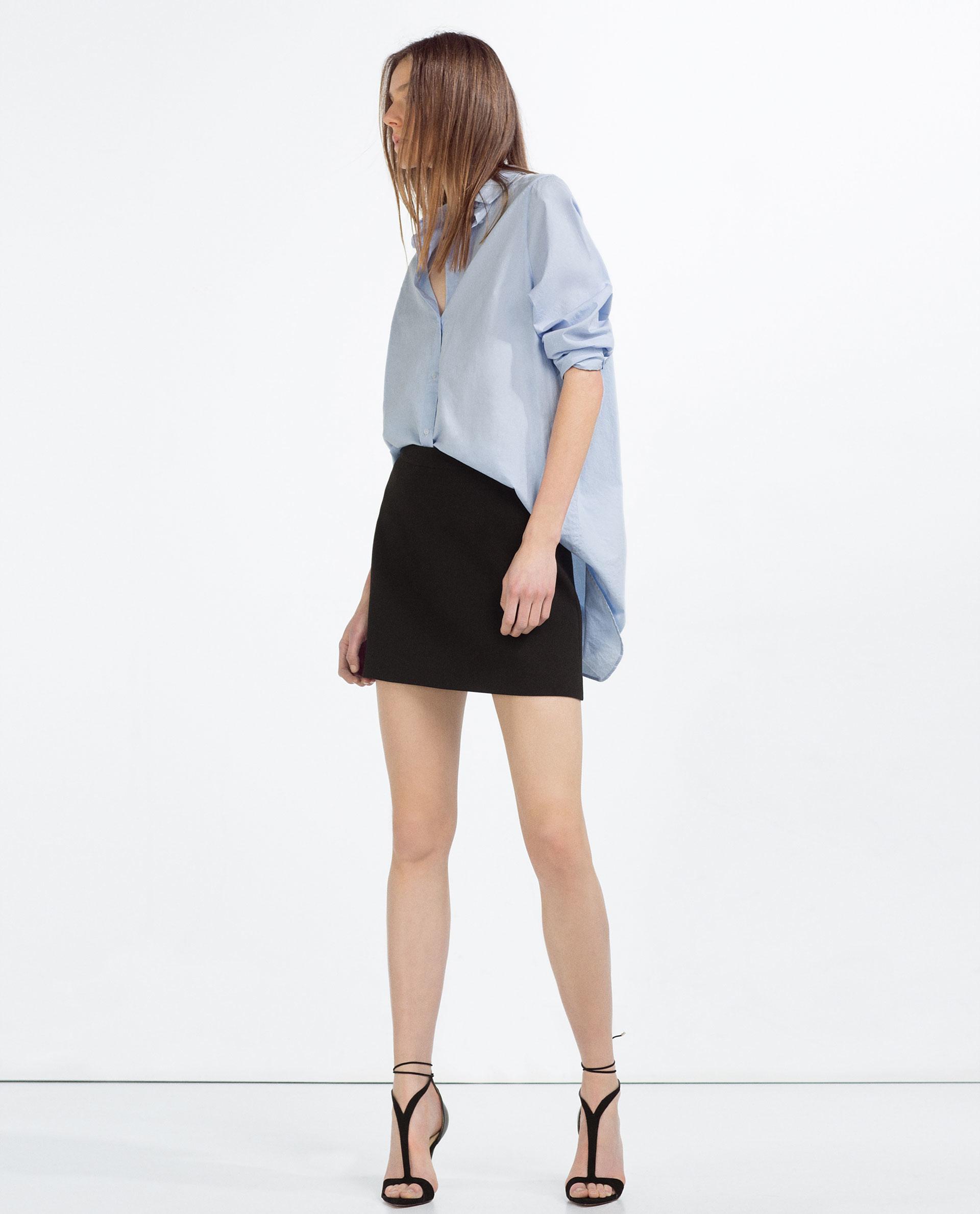 zara mini skirt in black lyst