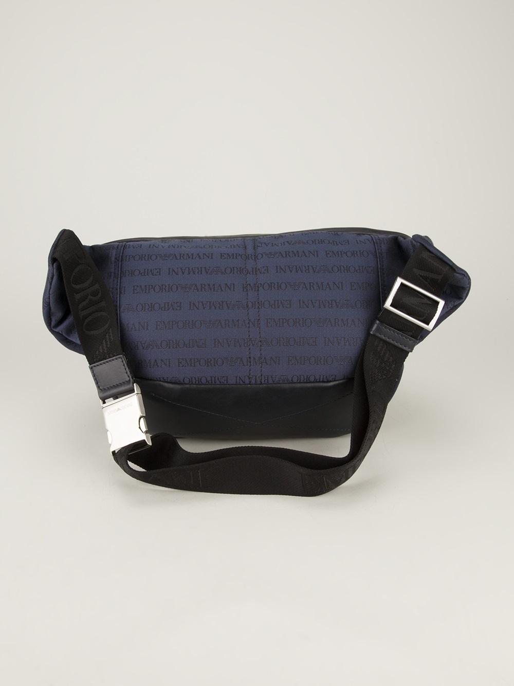 Lyst - Emporio Armani Branded Bum Bag in Blue for Men 842e9d61f2734