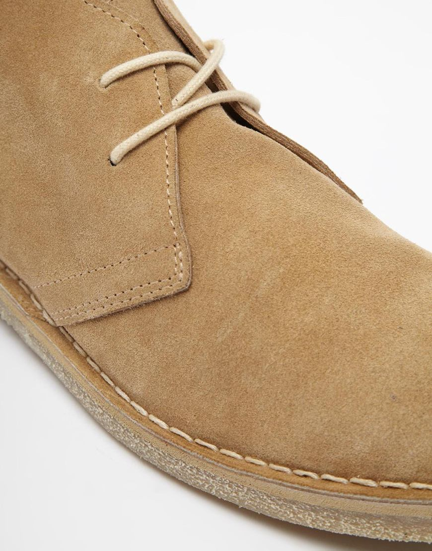 asos desert boots in suede in for lyst