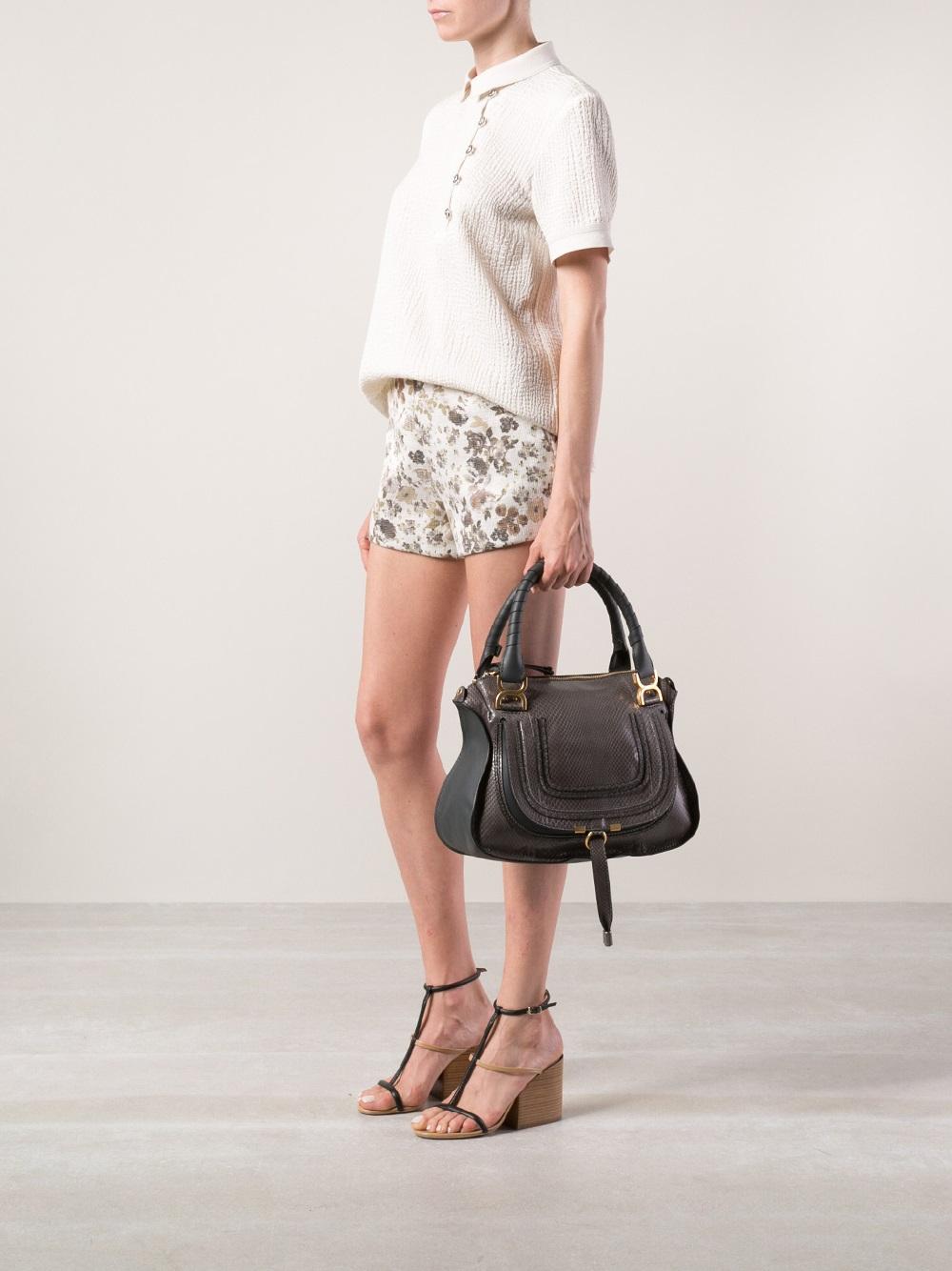 41991bb81 Chloé Marcie Medium Crossbody Bag in Black - Lyst