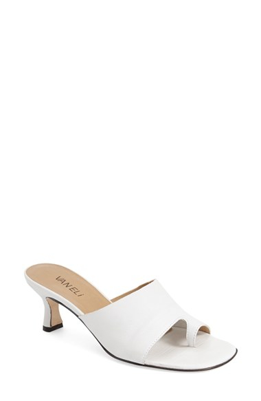 Vaneli Melea Slide Sandals In White Lyst
