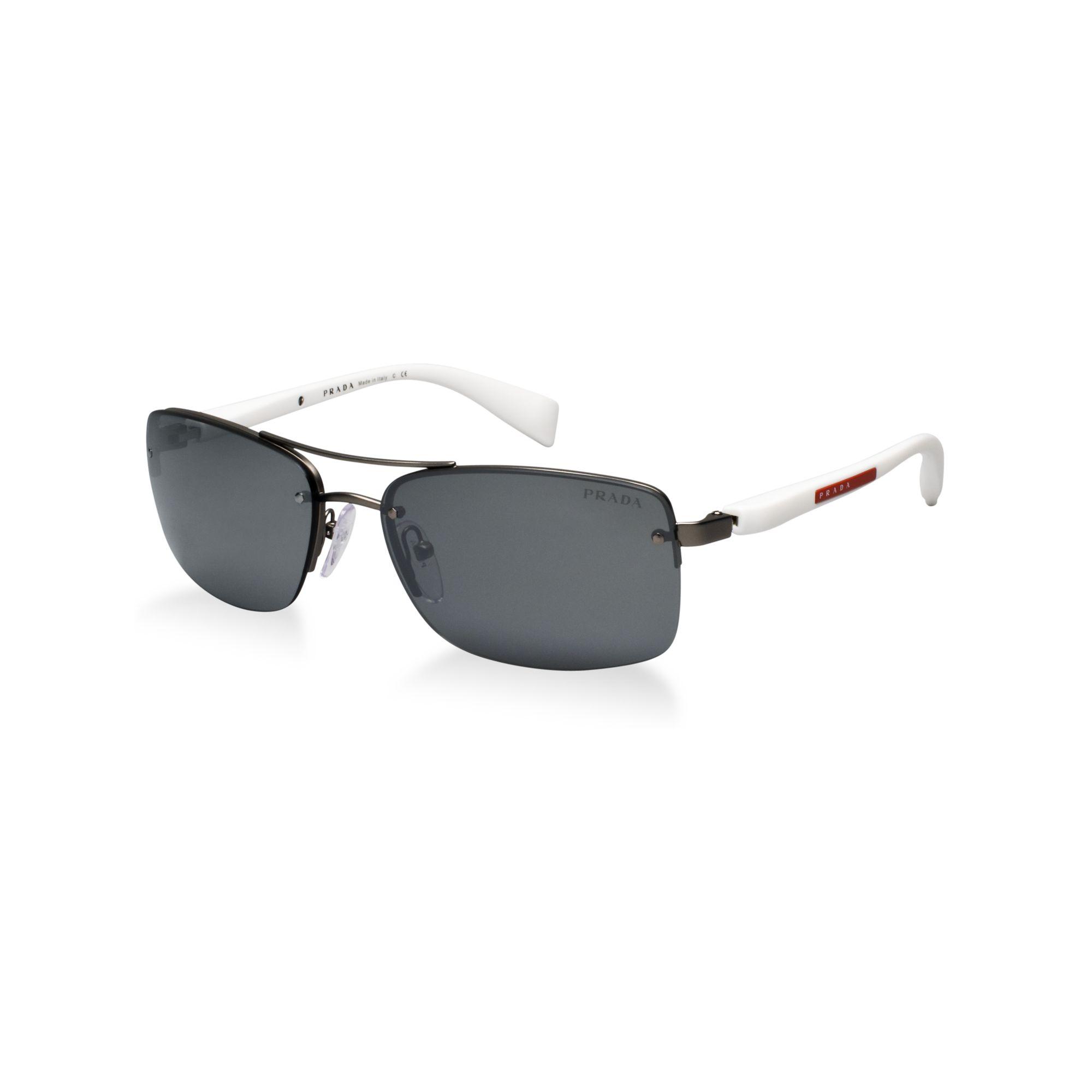 b8dccf2d7324b Lyst - Prada Prada Linea Rossa Sunglasses