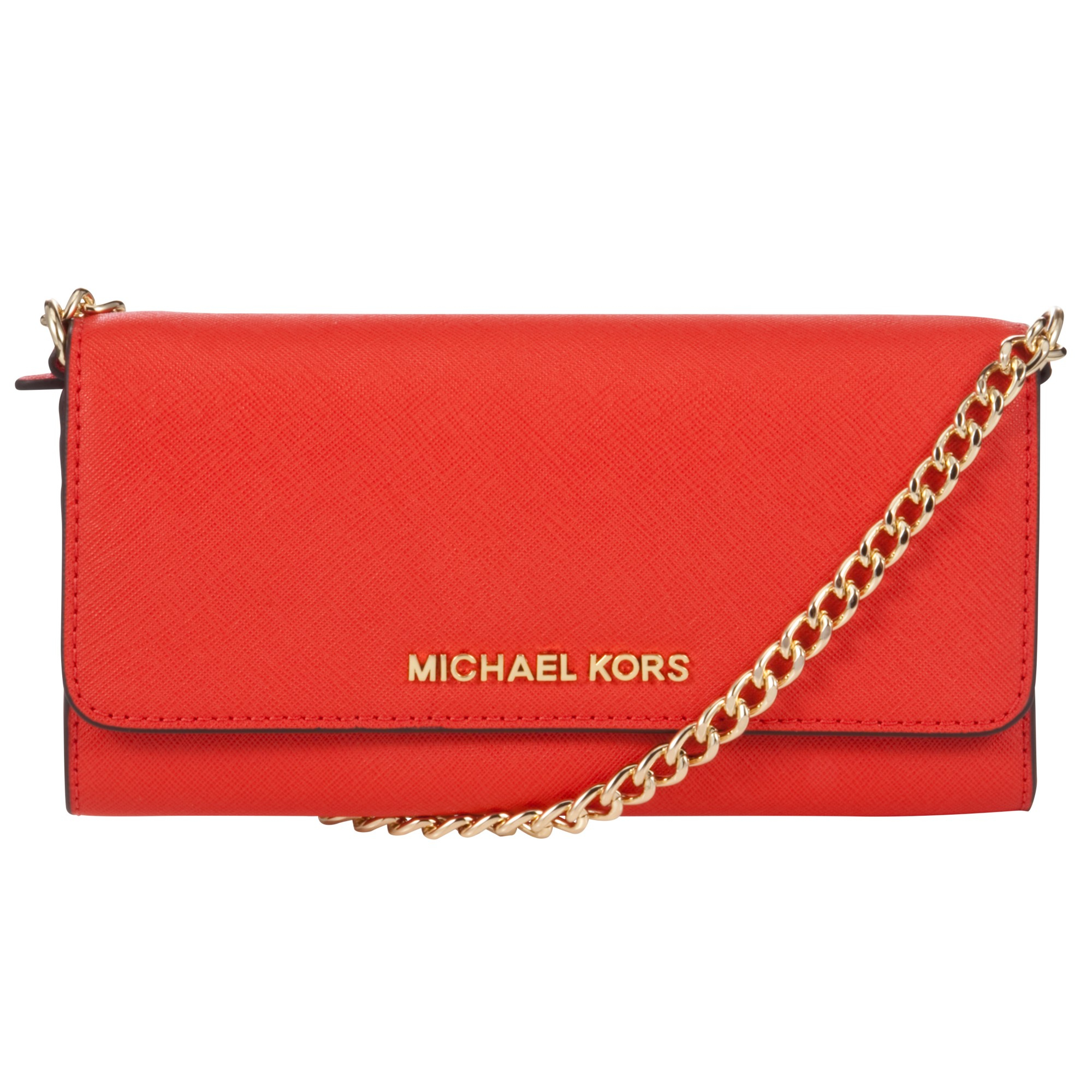 833afb5693df ... inexpensive michael kors jet set travel saffiano leather chain wallet  in e1a85 734e9