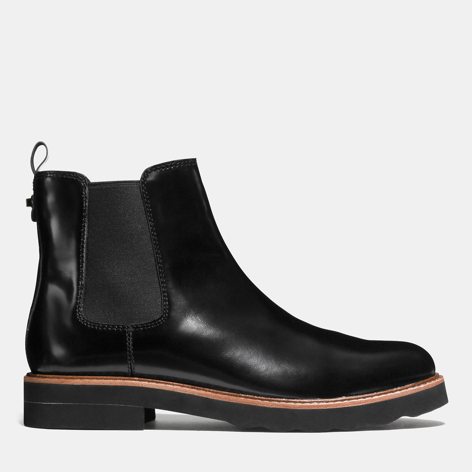 coach elijah boot in black lyst
