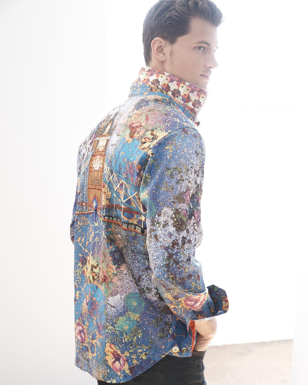 fdc53dd6 Robert Graham Paint-splatter Woven Sport Shirt for Men - Lyst