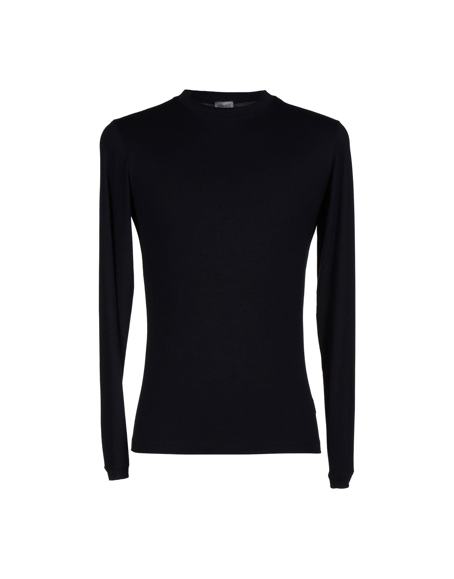 Armani t shirt in black for men lyst for Black armani t shirt
