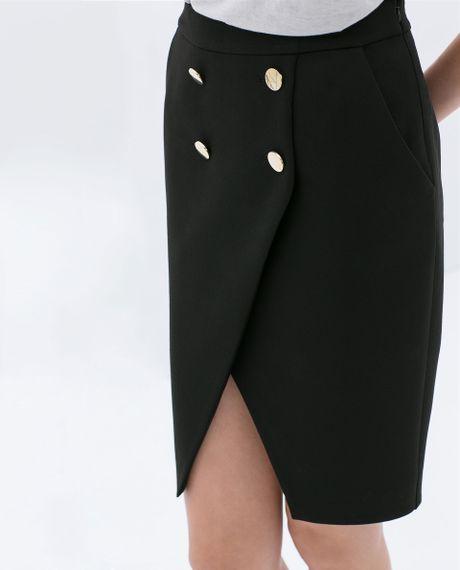 Zara Black And Gold Skirt 121