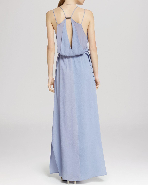 Halston Maxi Dress - Spaghetti Strap in Purple | Lyst