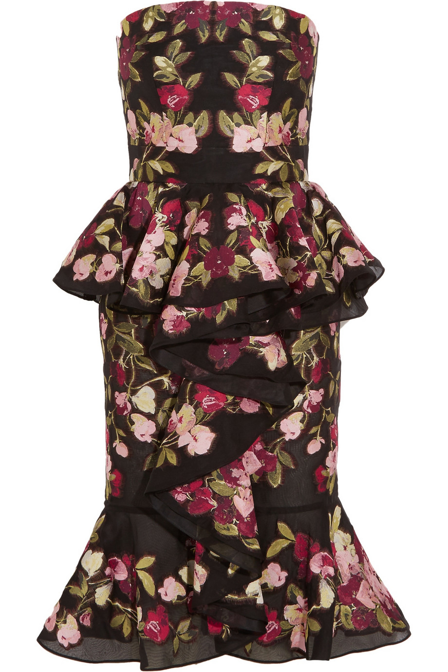Lyst Alexander Mcqueen Ruffled Embroidered Organza