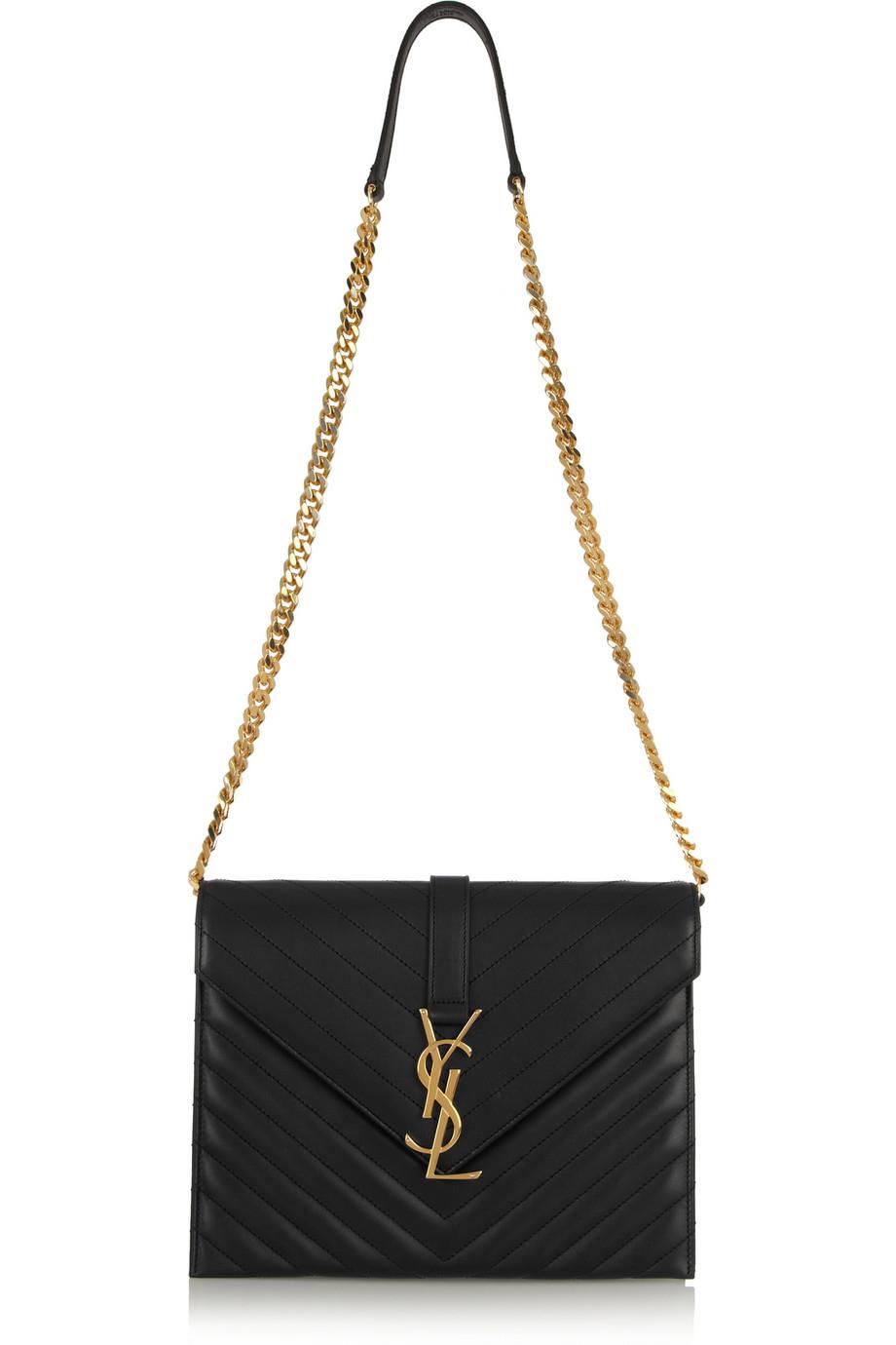 8e48a53ca905 Saint Laurent Bag Japan. Authentic Yves Saint Laurent black crocodile  embossed leather ...