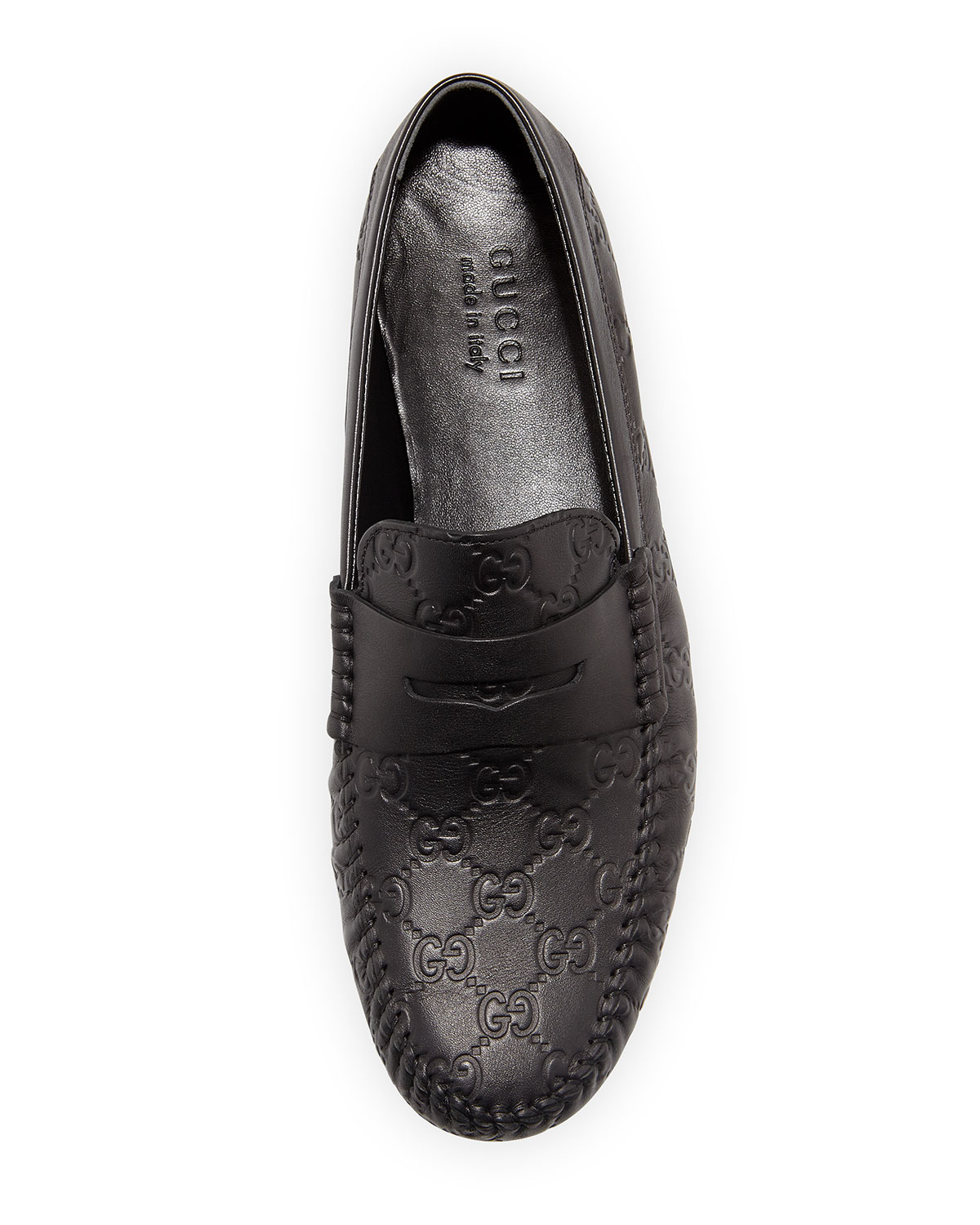 8c1c557aa1a Lyst - Gucci Leather Driving Shoes in Black for Men