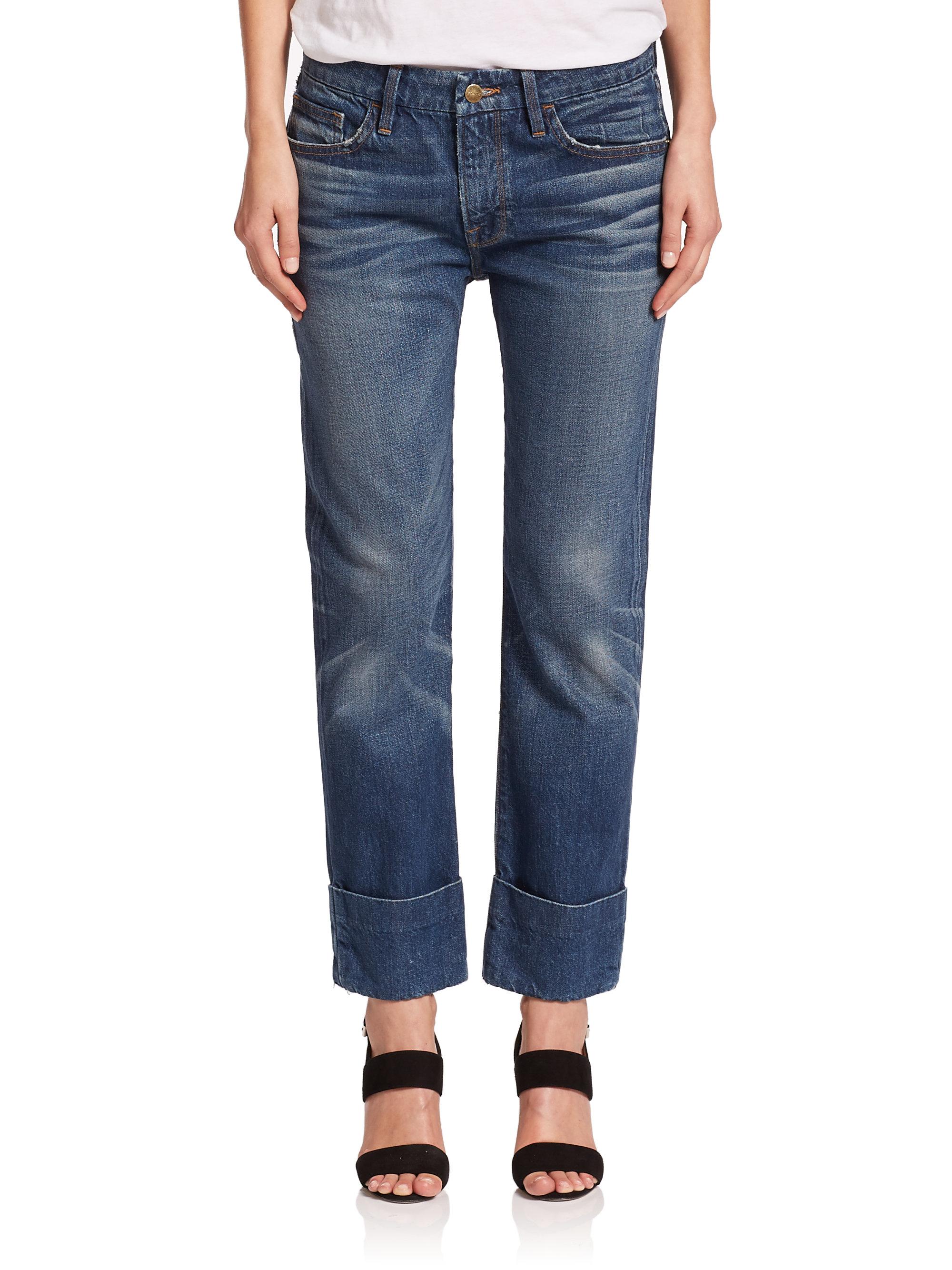 Frame Le Grand Garcon Boyfriend Jeans In Blue Lyst