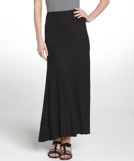 bcbgmaxazria black stretch sydney maxi skirt in black lyst