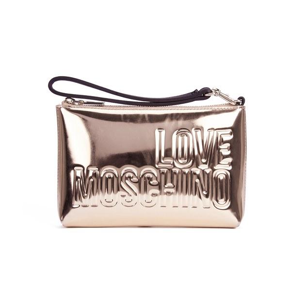 c11bb367de Love Moschino Women's Mirror Clutch Bag in Metallic - Lyst