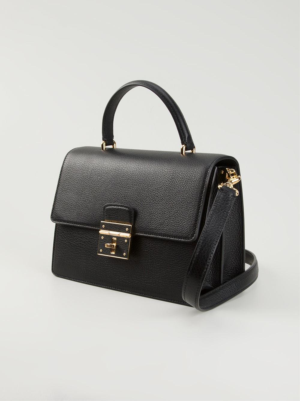 02524abc1f1 Dolce   Gabbana  Rosalia  Shoulder Bag in Black - Lyst