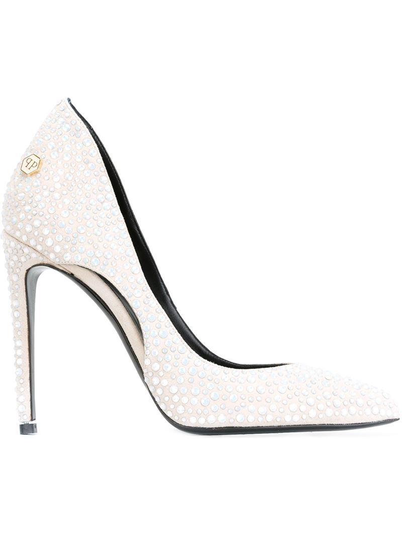 2bf507d37aaa Philipp Plein  be With You  Pumps in White - Lyst