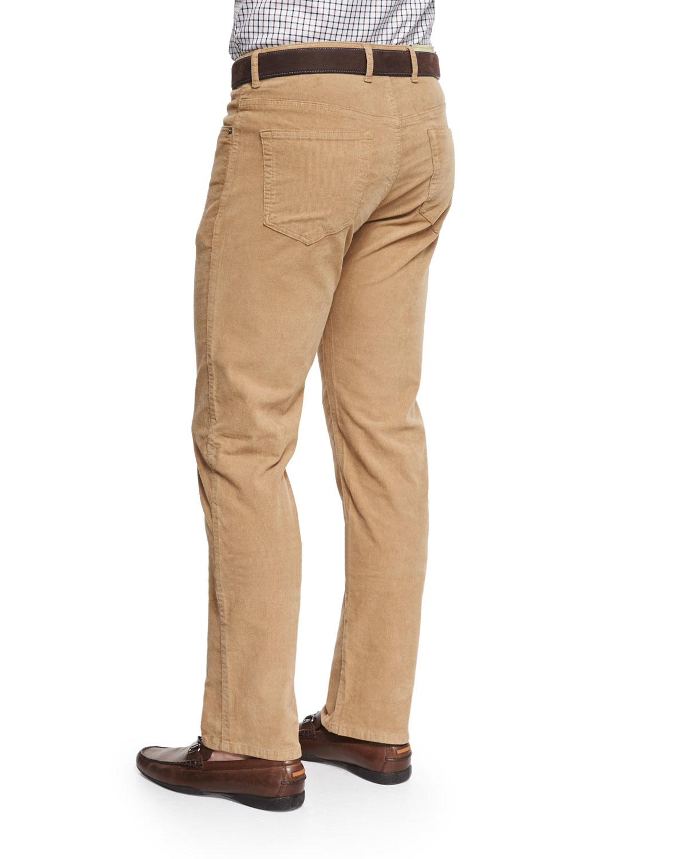 b5b6eeb0257c74 Peter Millar Five-pocket Stretch Corduroy Pants in Natural for Men ...