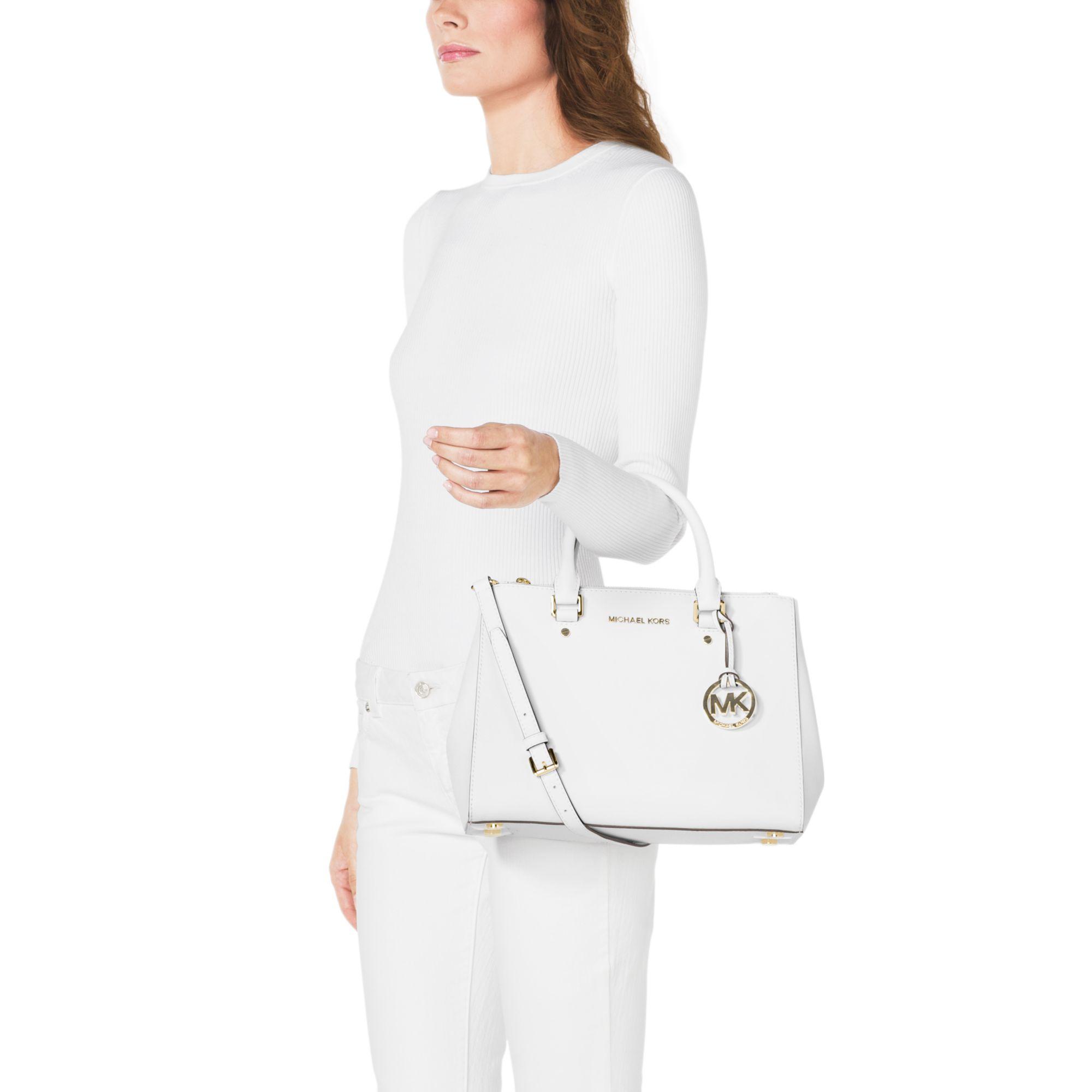 105596de1529e Womens Michael By Michael Kors Sutton Michael Kors Sutton Saffiano Leather  Medium Satchel ...