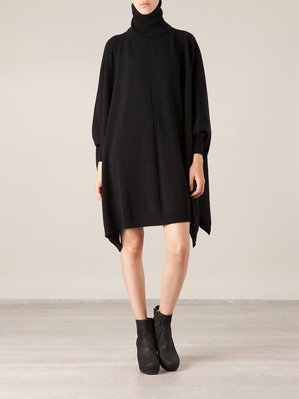 c098f42a1c5 Lyst - Lamberto Losani Oversized Sweater Dress in Black