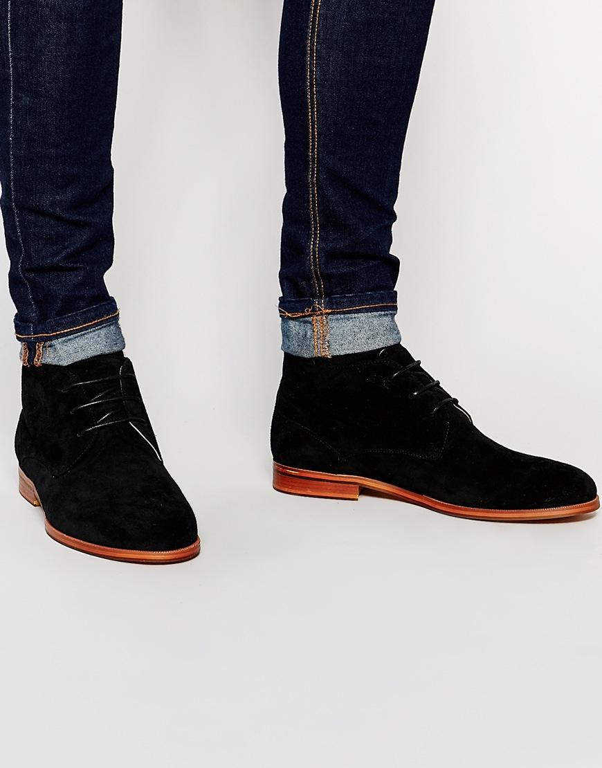 Buy Men Shoes / Aldo Leather Short Lace Up Boots