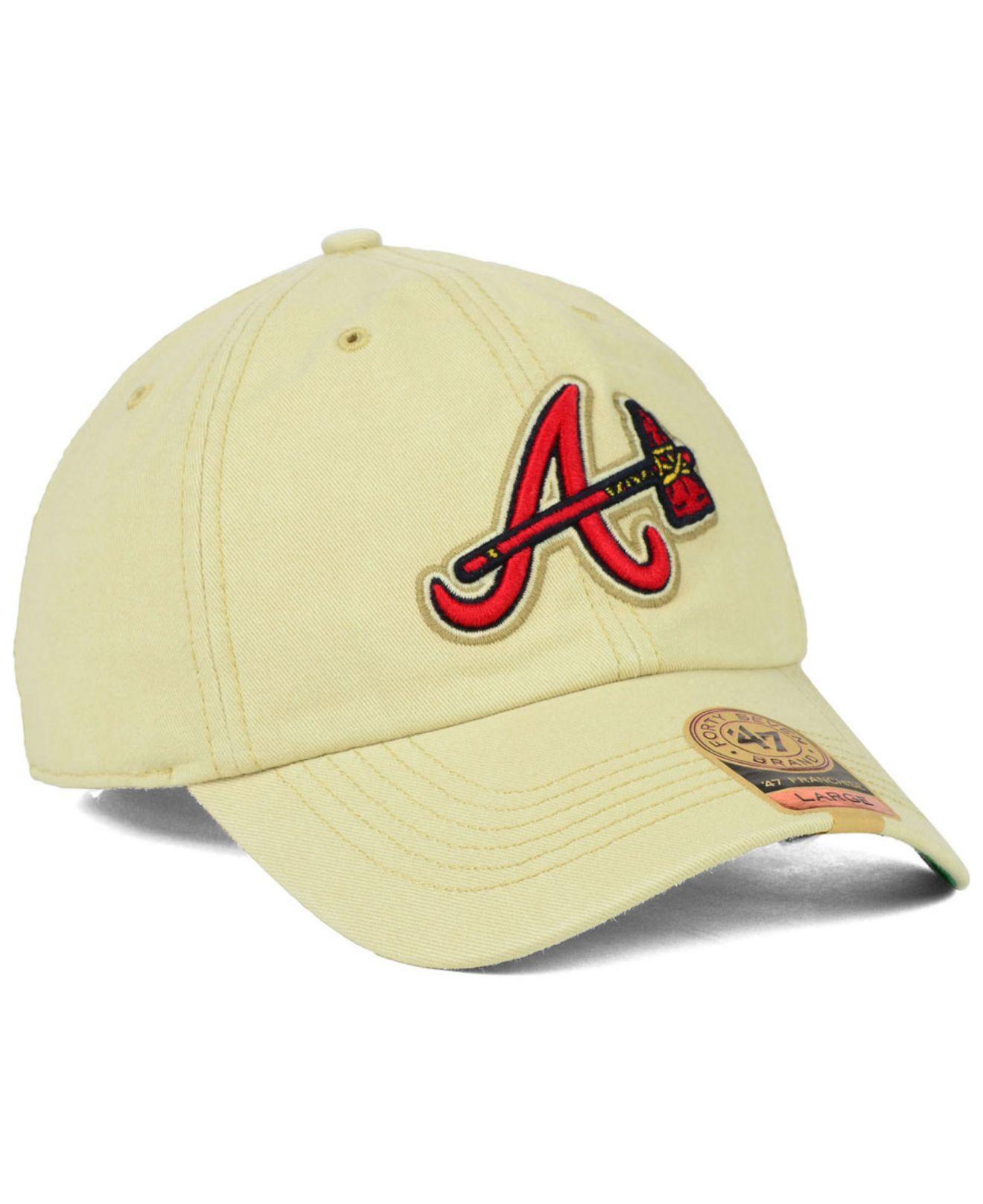 ... amazon lyst 47 brand atlanta braves lawrence franchise cap in natural  for men 1b3bd 0c162 e1cbf82a0eaa
