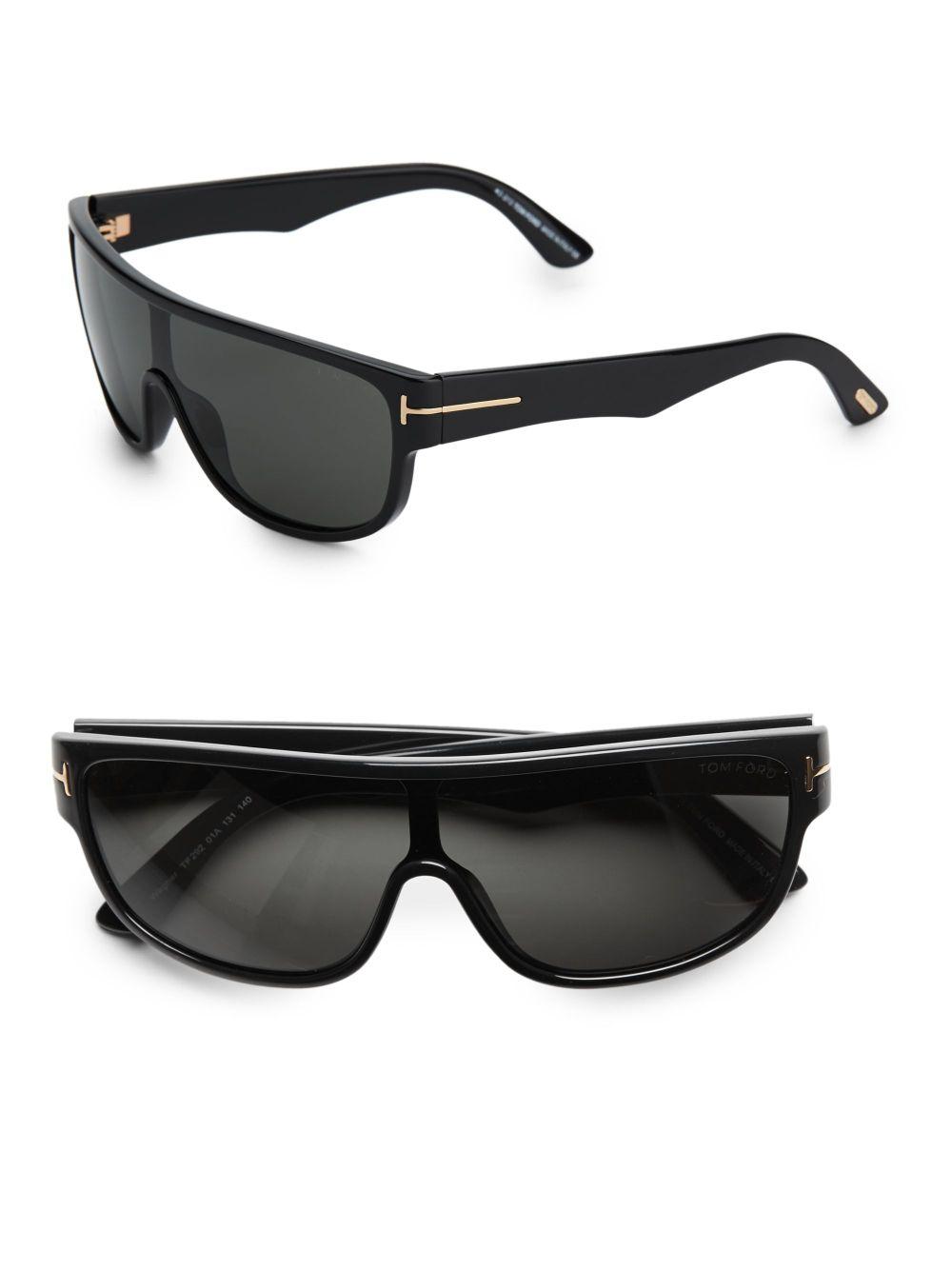 54253dcc9d Lyst Tom For Shield Black Sunglasses Ford Wagner Men In Oversized nBOd4nrp