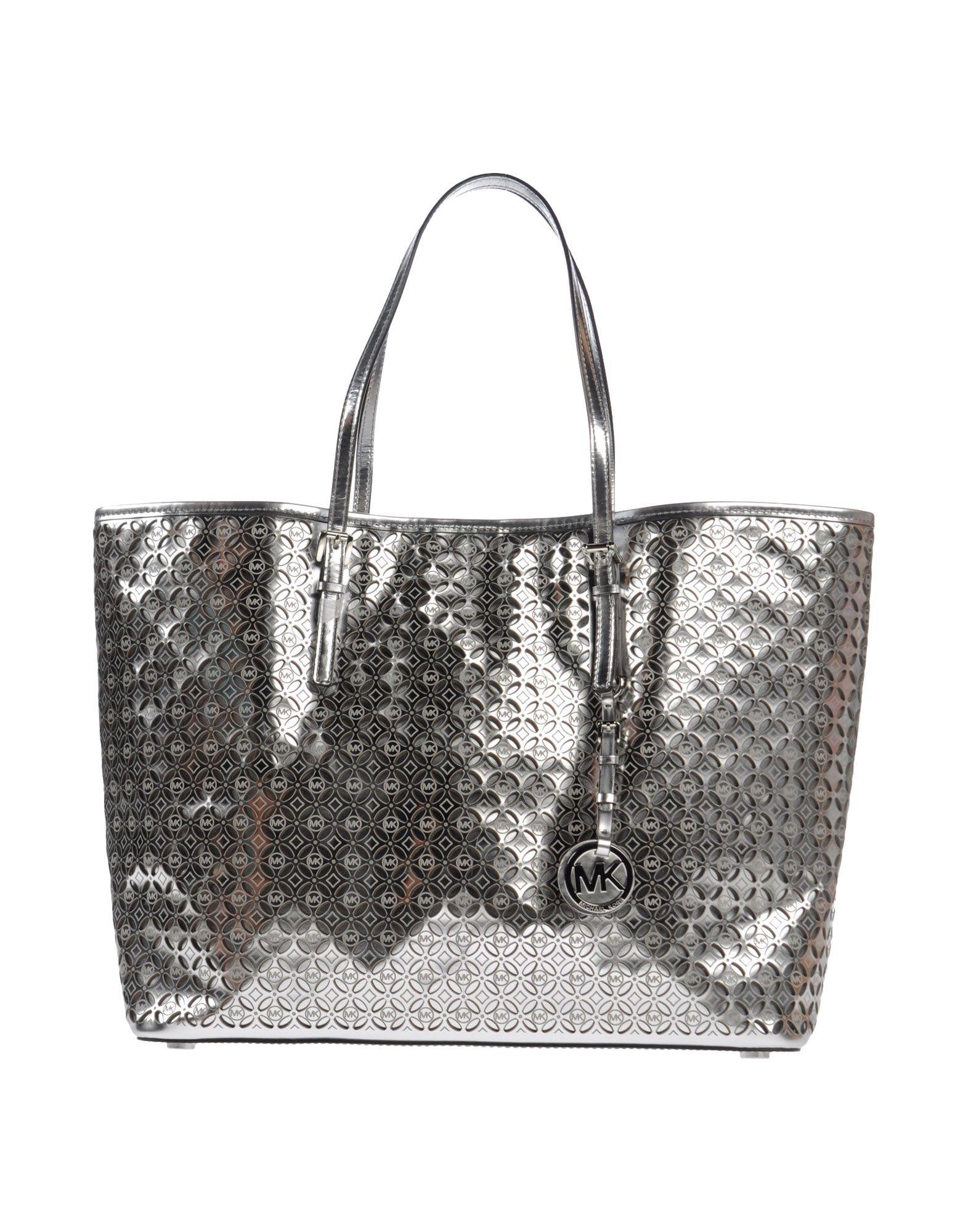 michael michael kors shoulder bag in silver lyst. Black Bedroom Furniture Sets. Home Design Ideas