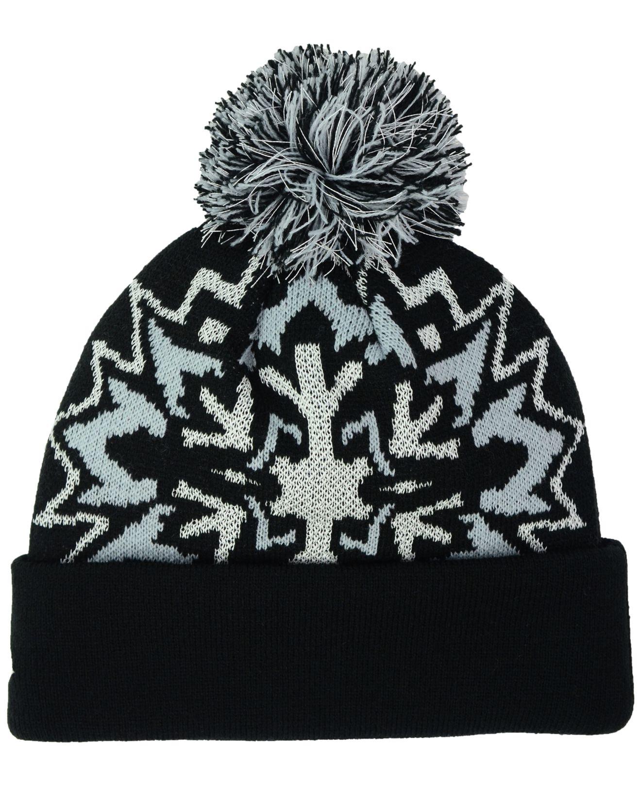 ba215ef1d8d Lyst - KTZ Oakland Raiders Glowflake Knit Hat in Black for Men