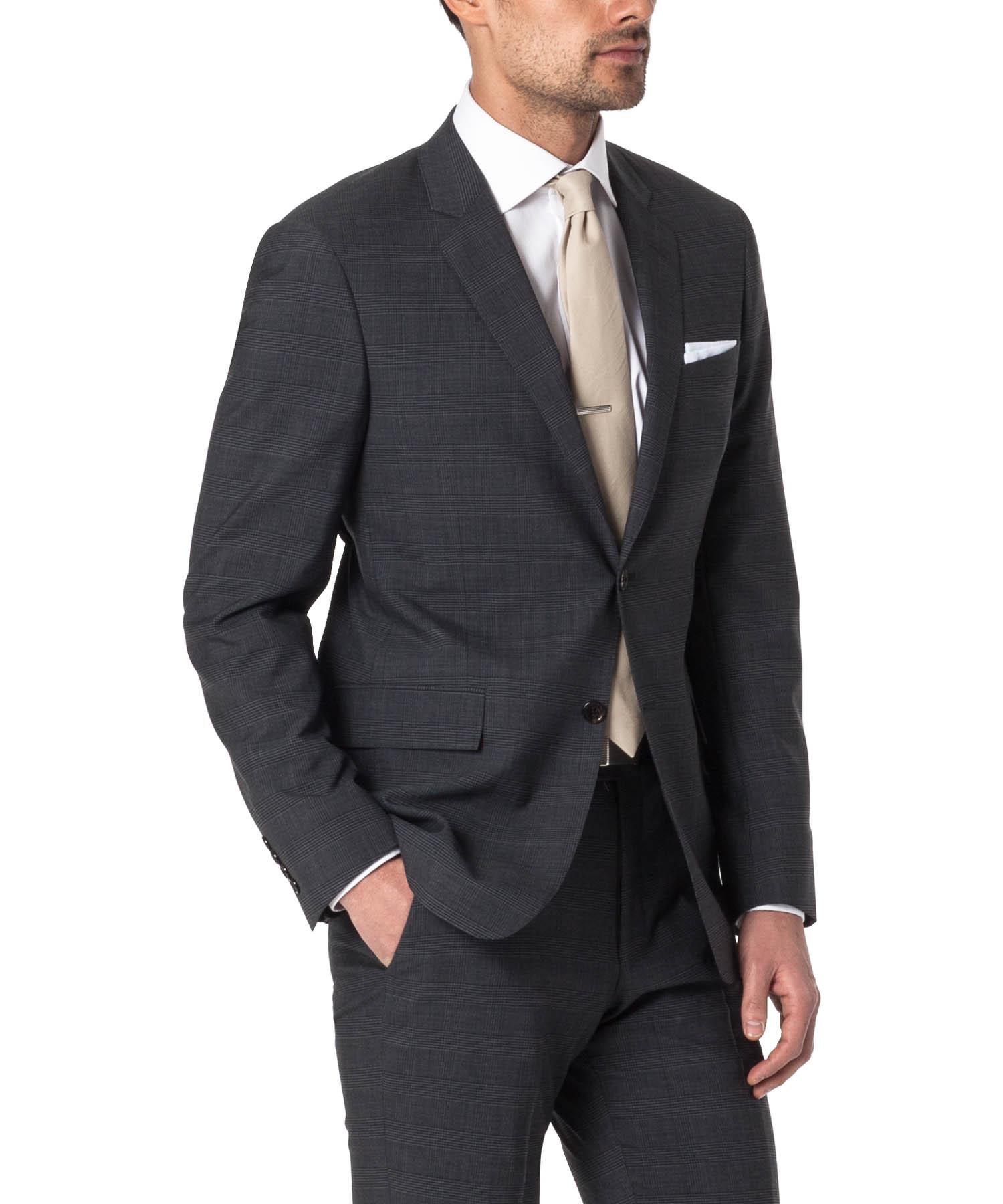 Todd snyder The Mayfair Three Piece Suit In Dark Grey Glen Plaid ...