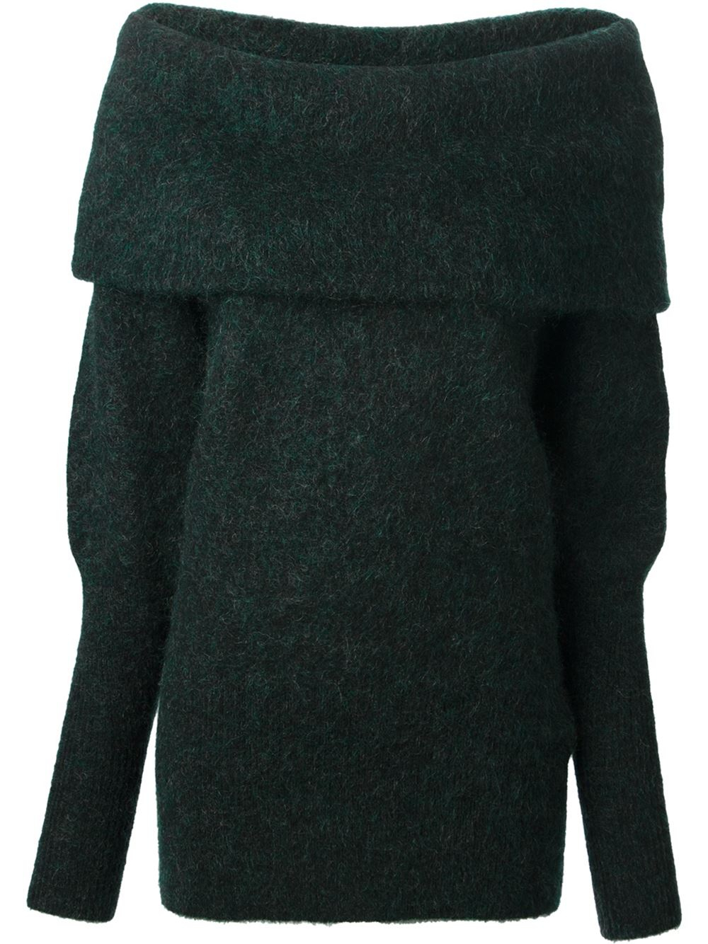 Acne studios Daze Mohair Cowl Neck Sweater in Green | Lyst