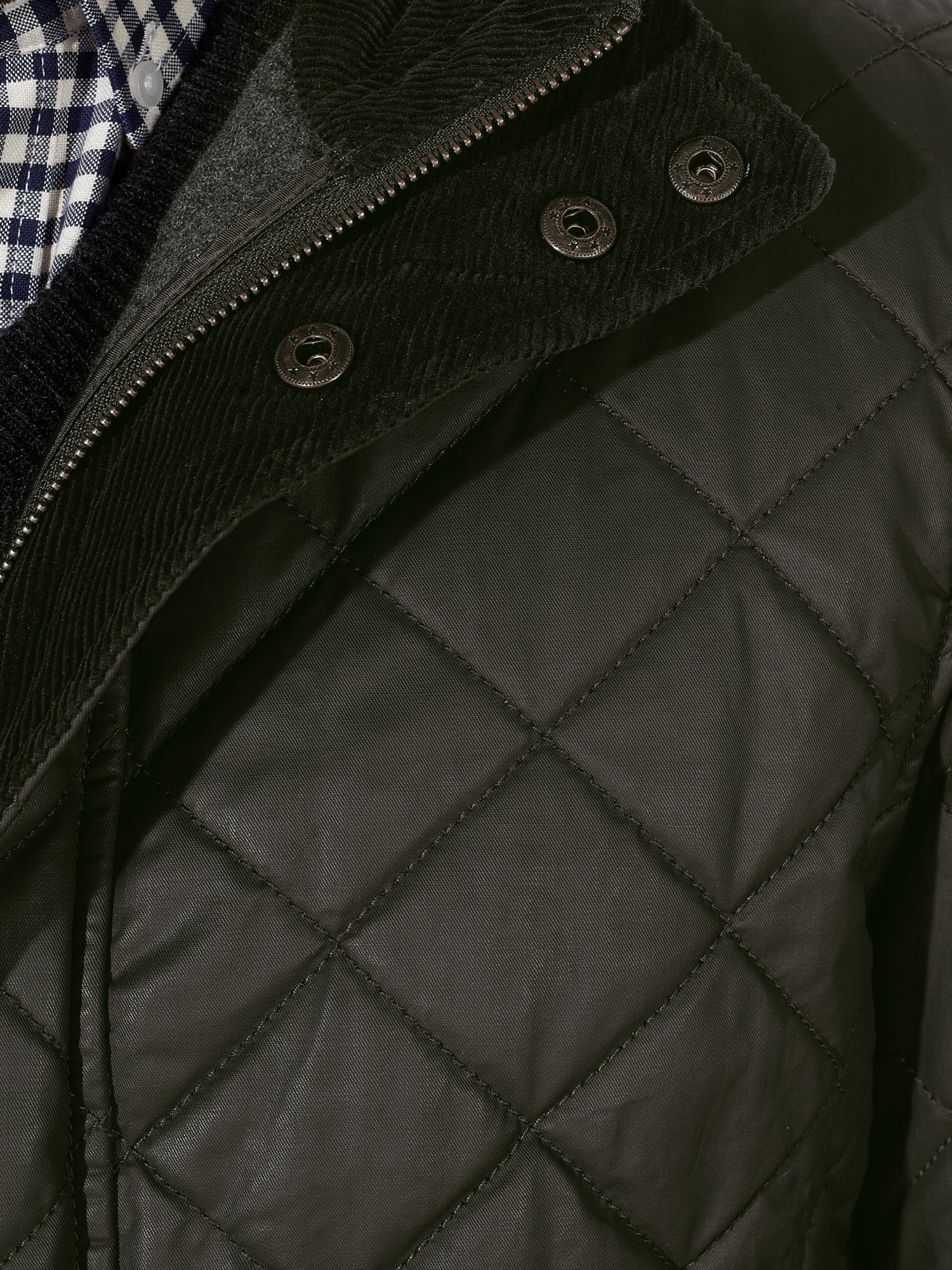 John Lewis Waxed Cotton Quilted Jacket In Green For Men Lyst
