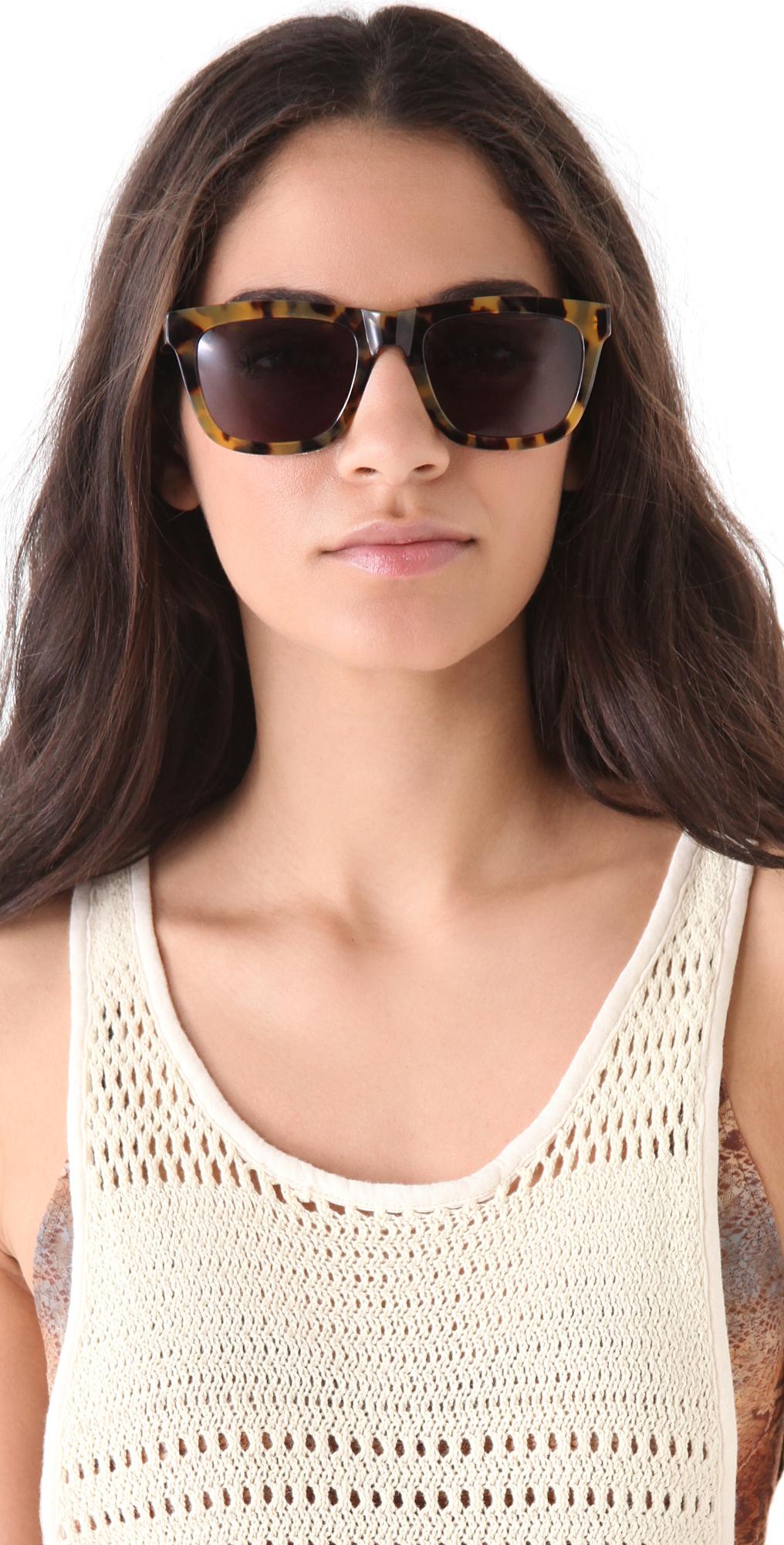 ad728e3db2 Karen Walker Deep Freeze Sunglasses in Brown - Lyst