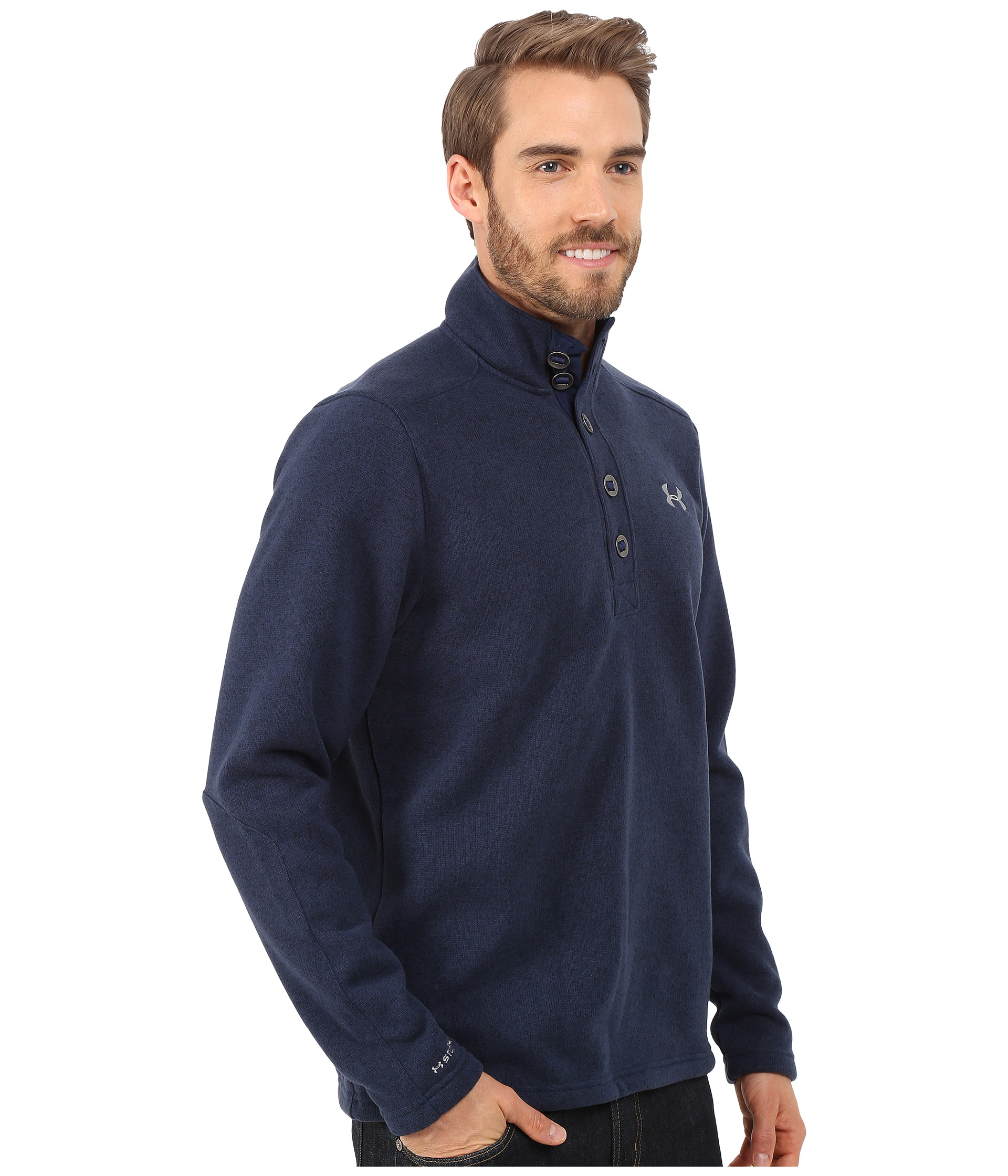 Lyst Under Armour Specialist Storm Sweater In Blue For Men