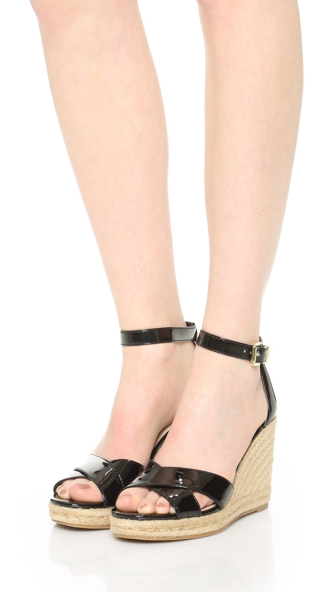 48fe5446ebc Lyst - Sam Edelman Brenda Espadrille Wedge Sandals in Black