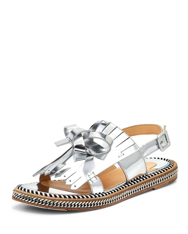 christian louboutin slide sandals Beige leather | cosmetics ...
