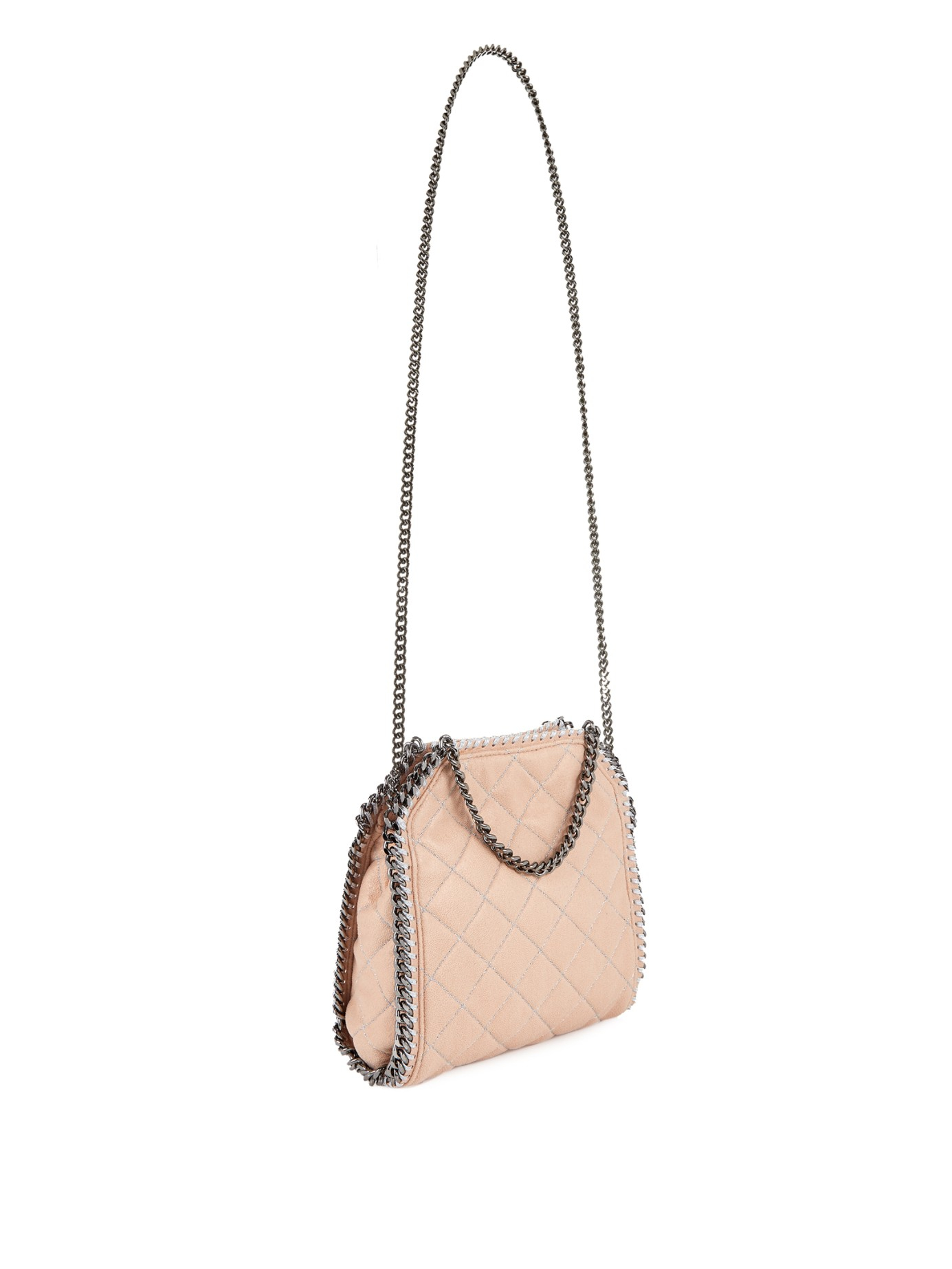 feda7a5d482f Stella McCartney Falabella Mini Quilted Cross-Body Bag in Natural - Lyst
