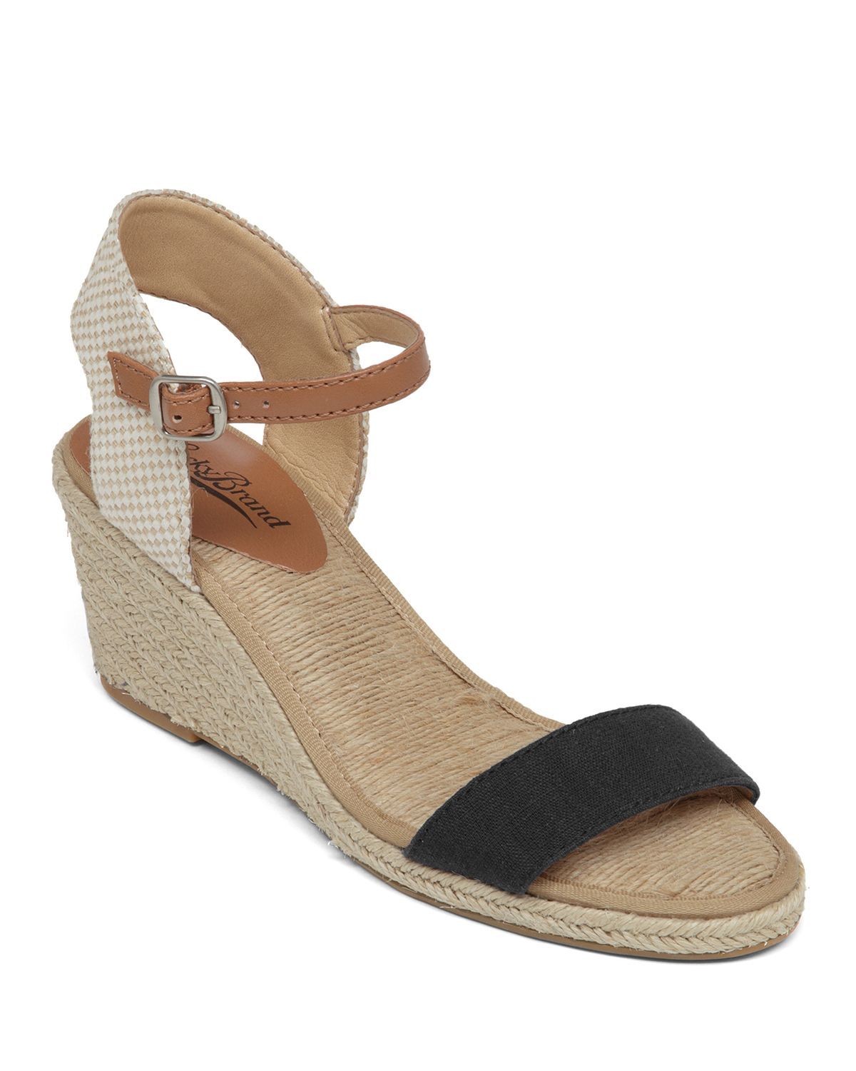 a33dadda1 Lucky Brand Espadrille Wedge Sandals - Kavelli Woven in Black - Lyst