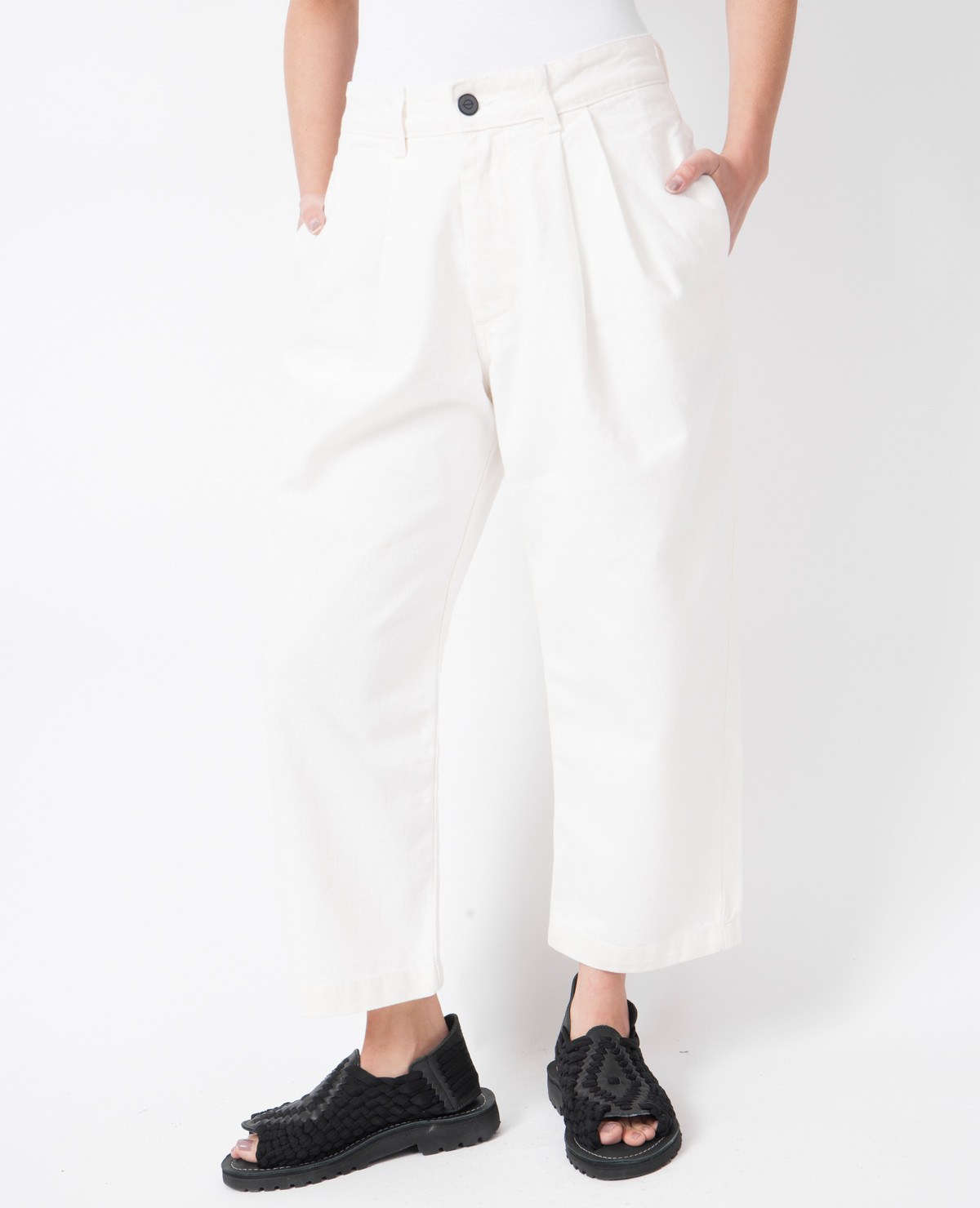 pleated pants without cuffs - Pi Pants
