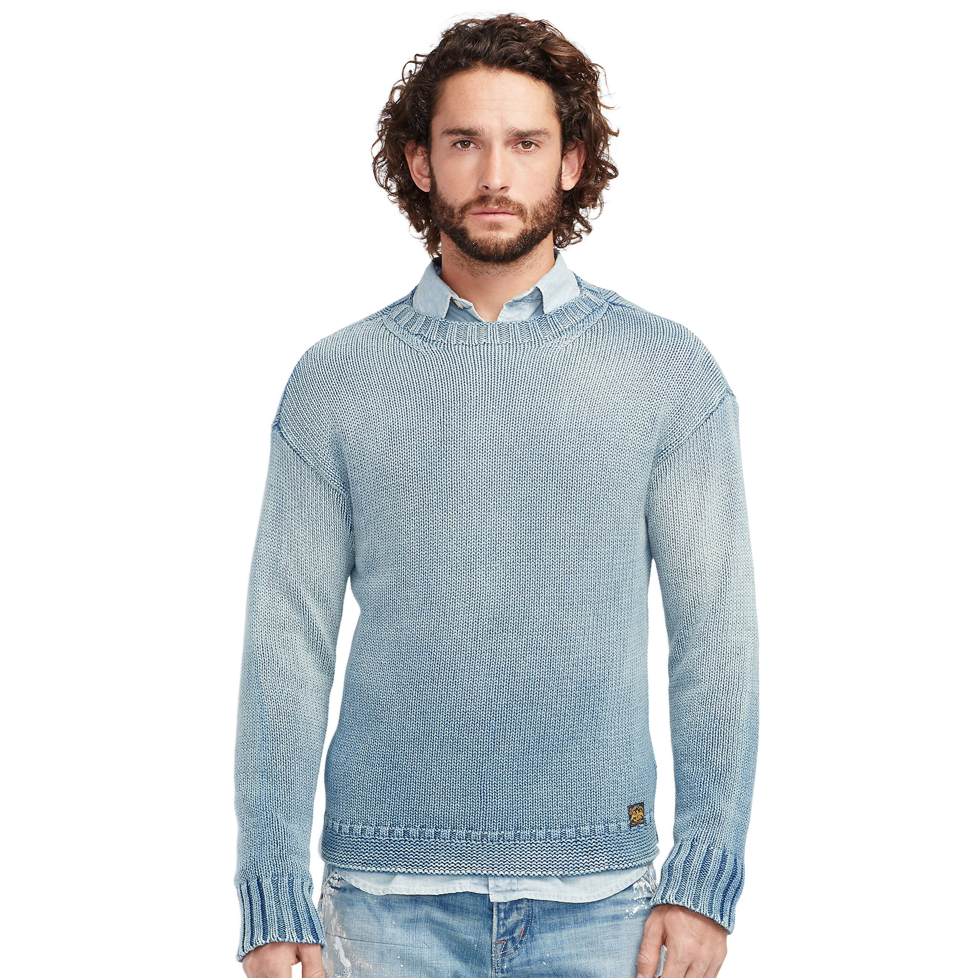 Denim & supply ralph lauren Men's Cotton V-neck Cardigan in Blue ...