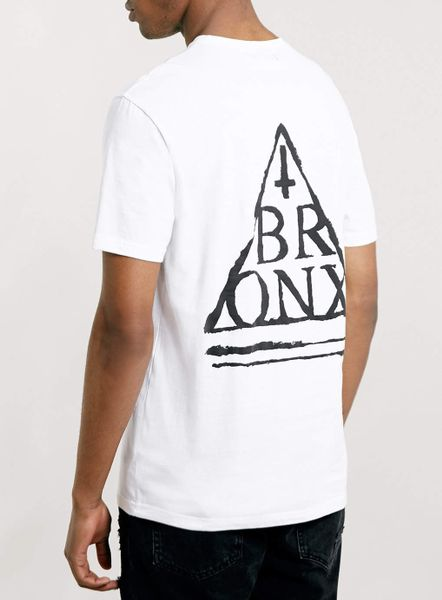 Topman white bronx front and back tshirt in white for men for T shirt printing bronx