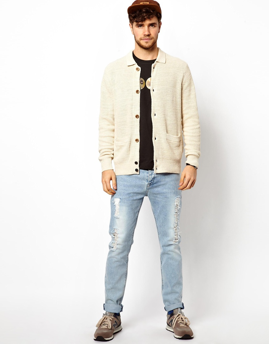 Paul smith Cardigan with Collar in Natural for Men | Lyst