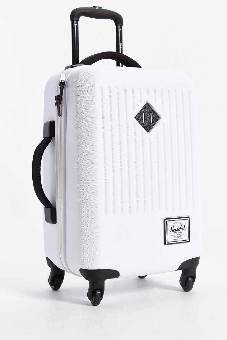 Herschel supply co. Trade Rolling Hard Shell Suitcase in White for ...