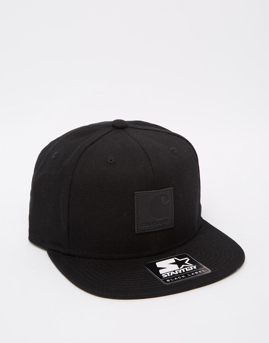 cfb1fc93557 Lyst - Carhartt WIP Logo Starter Snapback Cap in Black for Men