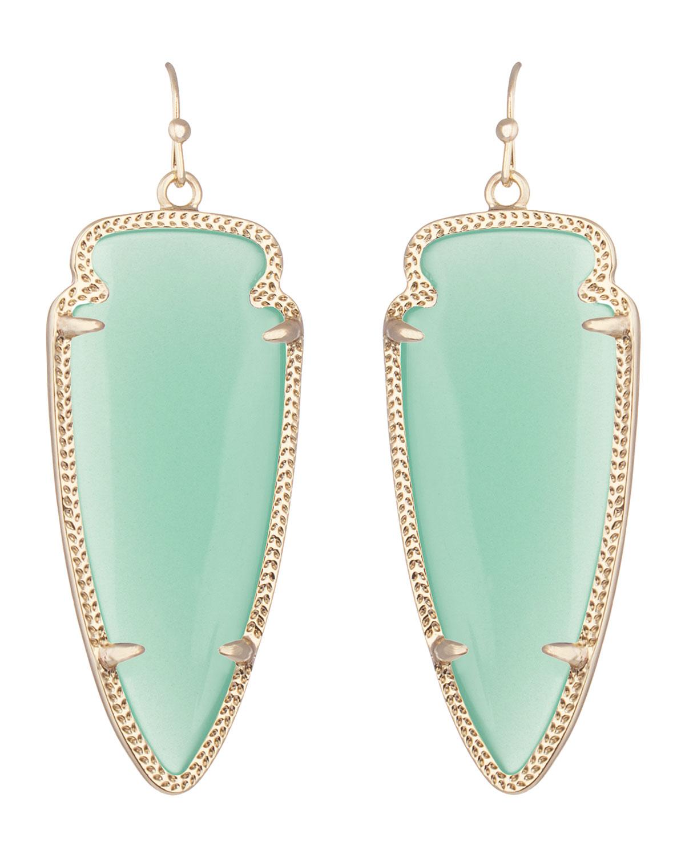 kendra scott skylar earrings in green lyst
