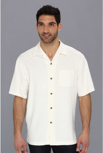 Tommy Bahama The Marlin Bar Camp Shirt In White For Men