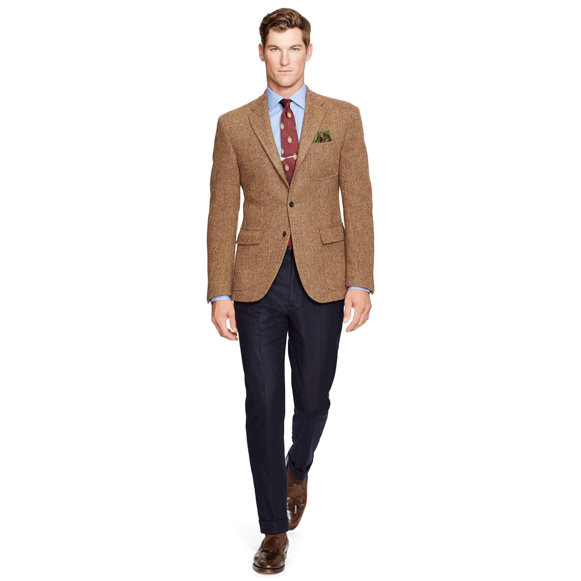 Lyst polo ralph lauren polo herringbone sport coat in for Polo shirt with sport coat