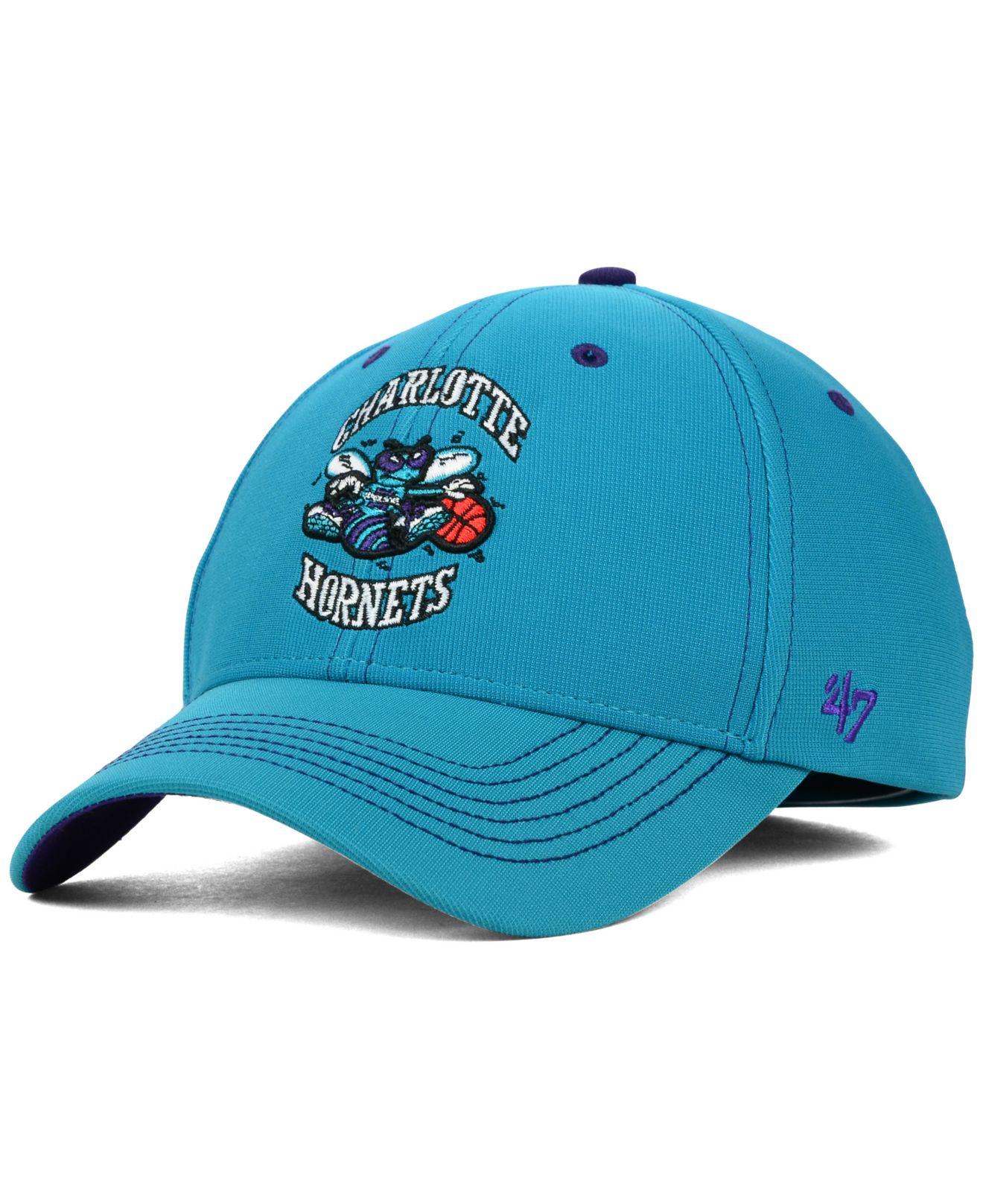 promo code f8b69 81546 sale lyst 47 brand charlotte hornets nba hwc dark twig contender cap in  02c66 77b80