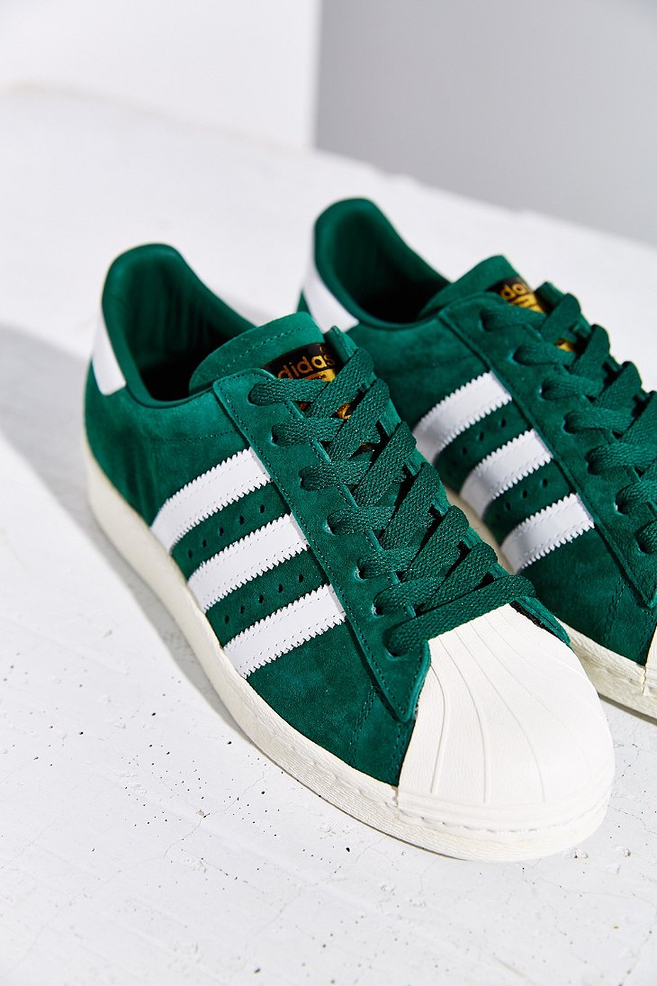 new concept bb5a6 87afd Lyst - adidas Originals Superstar 80s Deluxe Sneaker in Green