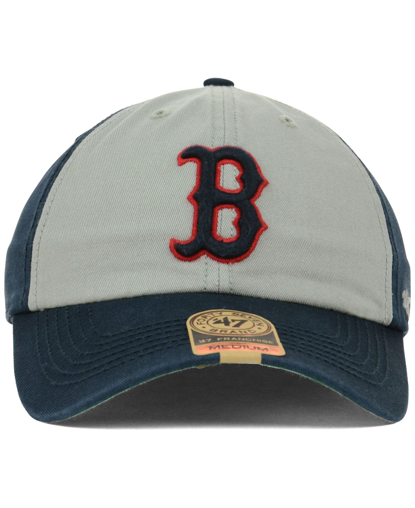 d7d84c76230 ... authentic lyst 47 brand boston red sox vip franchise cap in gray for men  e8112 b6af5