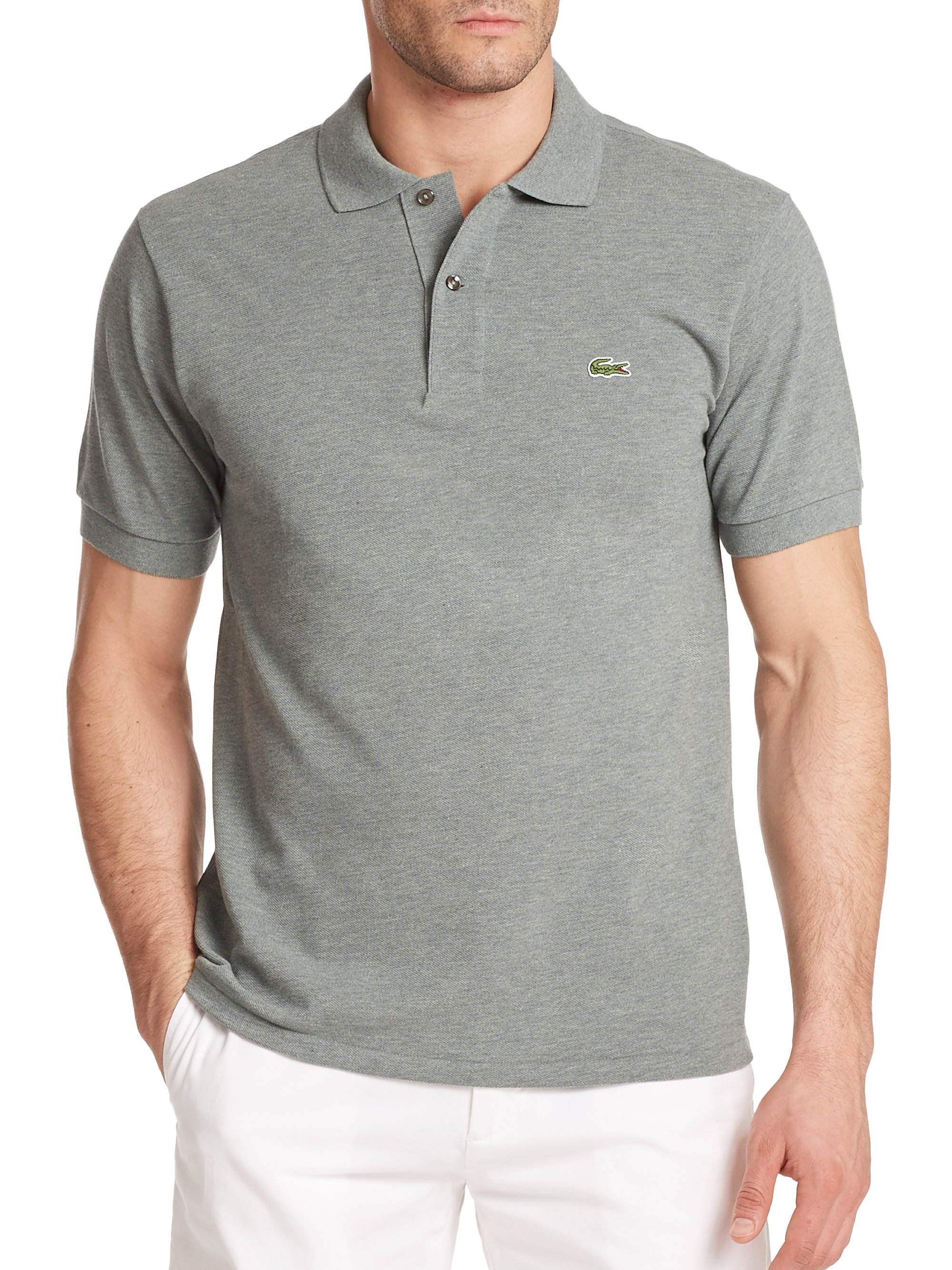 53cc81427f Lacoste Cotton Polo Shirt in Green for Men - Lyst